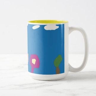 Haley's Sunny Garden Two-Tone Coffee Mug