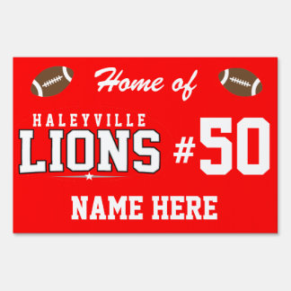 Haleyville High School; Lions Yard Sign