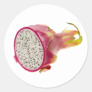 Half a dragonfruit classic round sticker