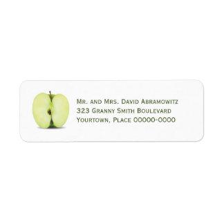 Half a Green Apple Return Address Return Address Label