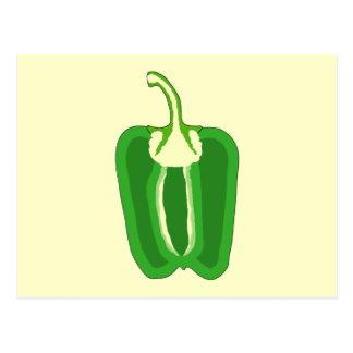 Half a Green Bell Pepper. Postcard
