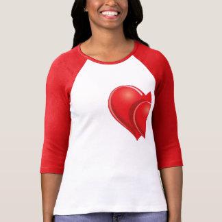 half a heart  valentine's day t-shirt design
