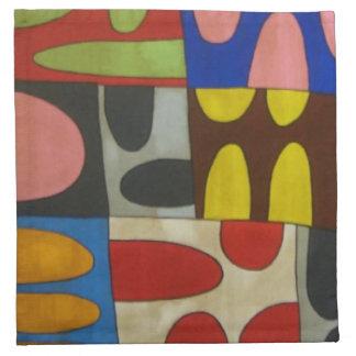 Half A Mind Set of 4 12 x 12 Cloth Napkins