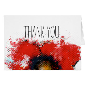 Half a Poppy Thank You Note Card