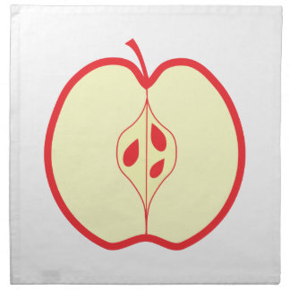 Half a Red Apple. Napkin