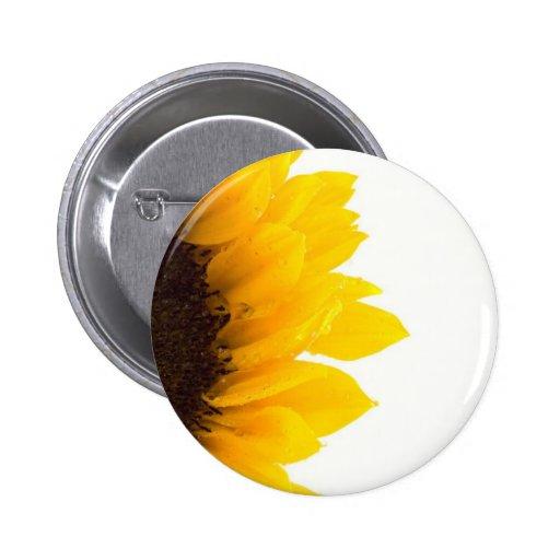 Half a Sunflower 2 Inch Round Button