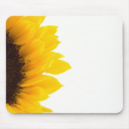 Half a Sunflower Mouse Pad