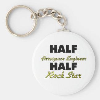 Half Aerospace Engineer Half Rock Star Basic Round Button Keychain
