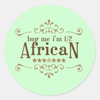 Half African Classic Round Sticker