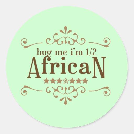 Half African Round Sticker