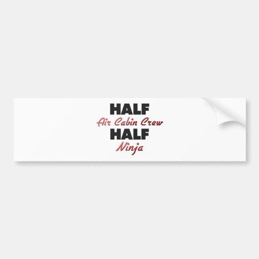 Half Air Cabin Crew Half Ninja Car Bumper Sticker
