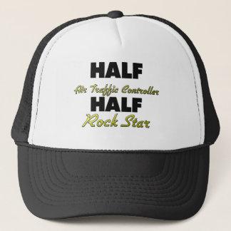 Half Air Traffic Controller Half Rock Star Trucker Hat
