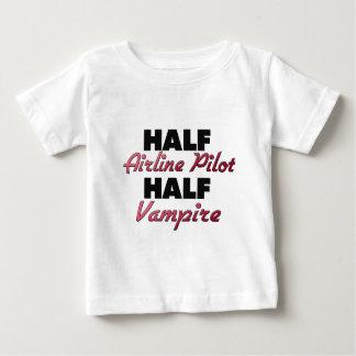 Half Airline Pilot Half Vampire Tee Shirts