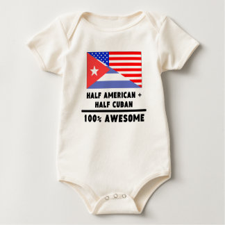 Half American Plus Half Cuban Baby Creeper