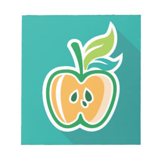 Half apple Core Isolated Design Notepad