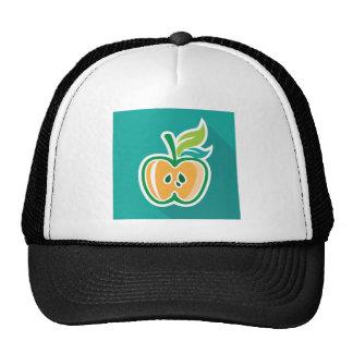 Half apple Core Isolated Design Trucker Hat
