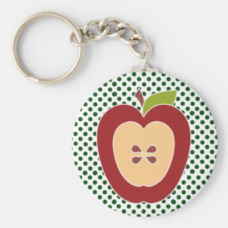 Half Apple Teacher's Key Chain