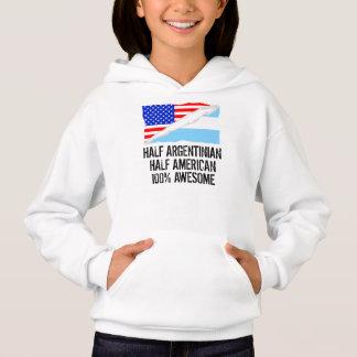 Half Argentinian Half American Awesome Hoodie