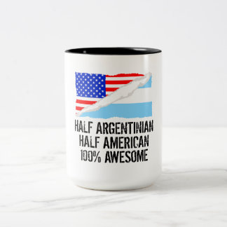 Half Argentinian Half American Awesome Two-Tone Coffee Mug