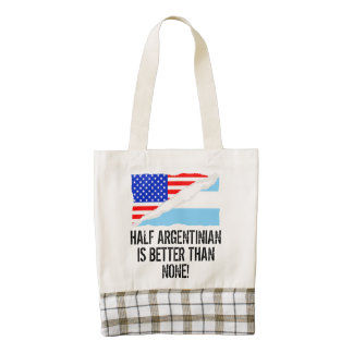 Half Argentinian Is Better Than None Zazzle HEART Tote Bag