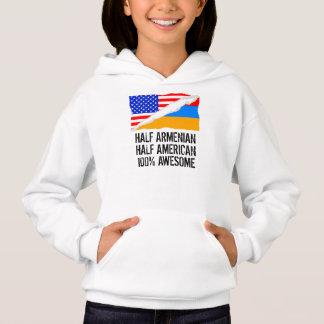 Half Armenian Half American Awesome Hoodie
