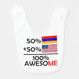 Half Armenian Half American Baby Bib