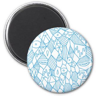 Half Asleep 2 Inch Round Magnet