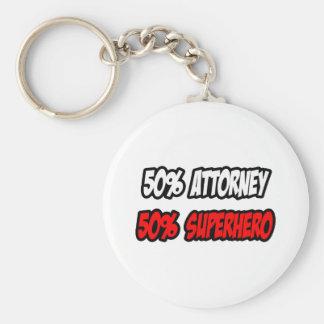 Half Attorney...Half Superhero Basic Round Button Keychain