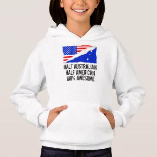 Half Australian Half American Awesome Hoodie
