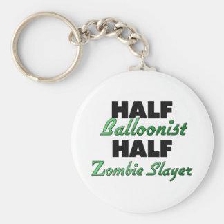 Half Balloonist Half Zombie Slayer Basic Round Button Keychain