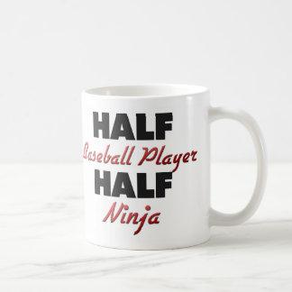 Half Baseball Player Half Ninja Classic White Coffee Mug