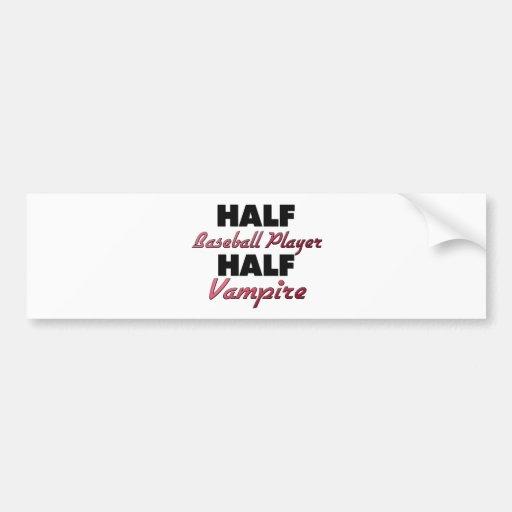 Half Baseball Player Half Vampire Car Bumper Sticker