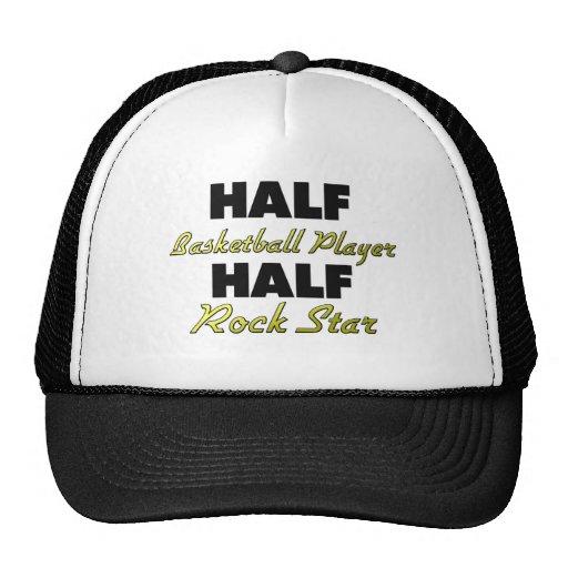 Half Basketball Player Half Rock Star Trucker Hat