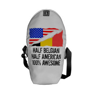 Half Belgian Half American Awesome Messenger Bag