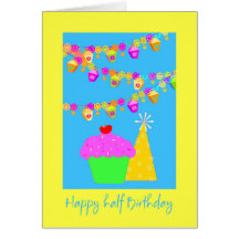 Half birthday cards greeting photo cards zazzle bookmarktalkfo Image collections
