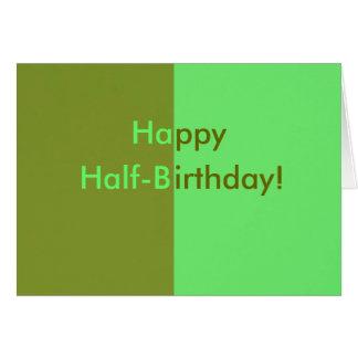 Half-birthday Card