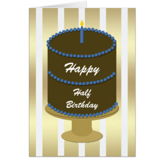 half birthday cards  zazzle, Birthday card