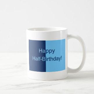 Half Birthday Card Coffee Mug