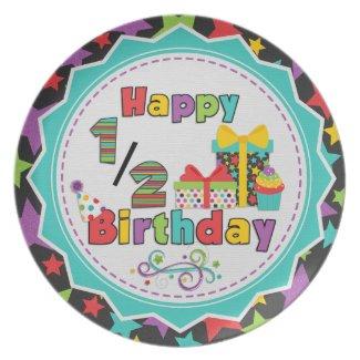 Half Birthday Melamine Plate