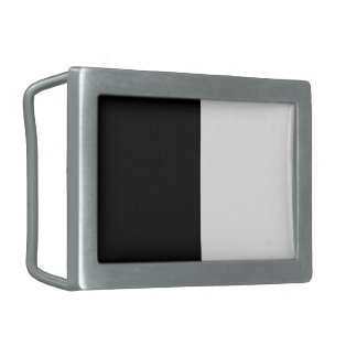 Half Black And Half White Middle Customize This Rectangular Belt Buckle