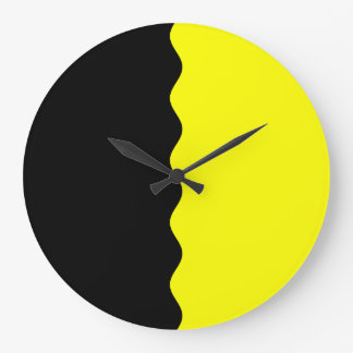 Half Black and Yellow Clock