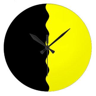 Half Black and Yellow Clocks