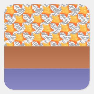 Half Blank +: GoldStar Constellation Square Sticker