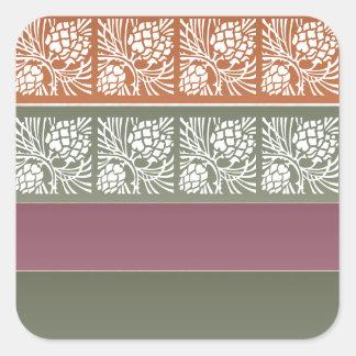 Half Blank +  Holistic Patterns n Color Grids Square Sticker
