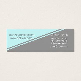 Half Blue Gray Minimalist Concept Bold Stripe Mini Business Card