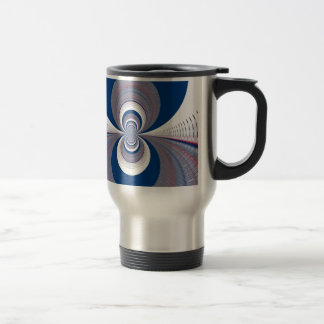 Half Blue Stainless Steel Travel Mug