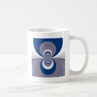 Half Blue Basic White Mug