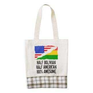 Half Bolivian Half American Awesome Zazzle HEART Tote Bag