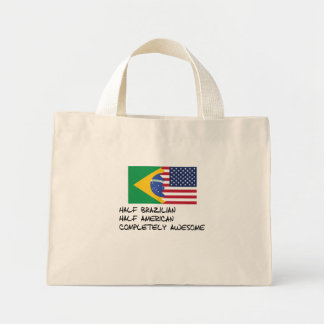 Half Brazilian Completely Awesome Mini Tote Bag