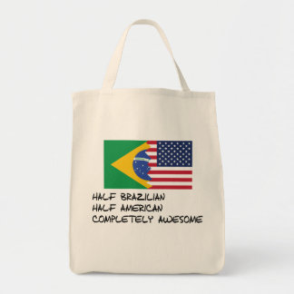 Half Brazilian Completely Awesome Tote Bag